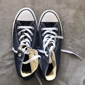 Shoes - Navy Blue Converse